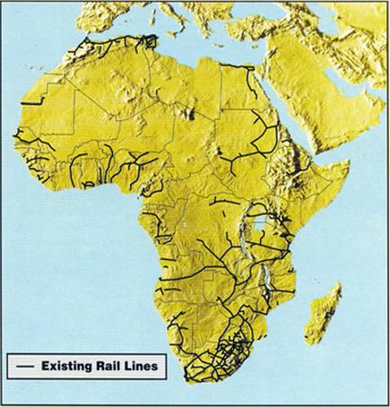 afrika demiryolları haritası ile ilgili görsel sonucu