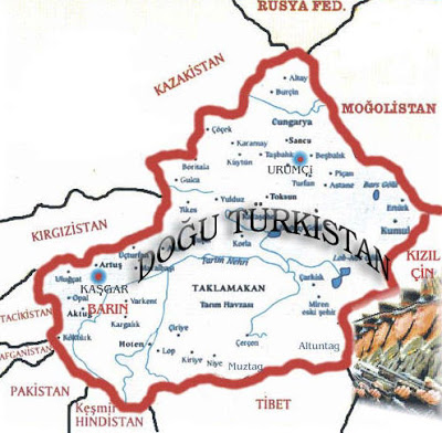 Doğu Türkistan kaşgar vilayeti aktu nahiyesi Barın köyü harita ile ilgili görsel sonucu