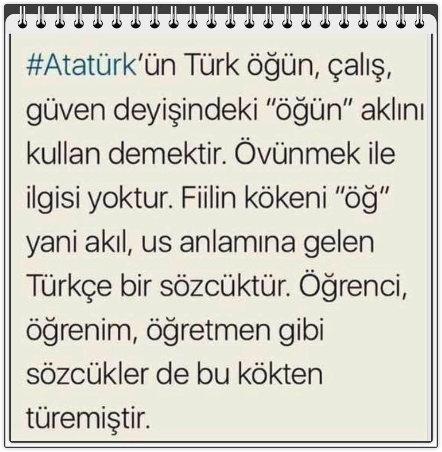 🇹🇷 Türk Dili, Tarihi ve Kültürü 🇹🇷: 'Türk öğün, çalış, güven...' derken  öğün ne anlama geliyor?