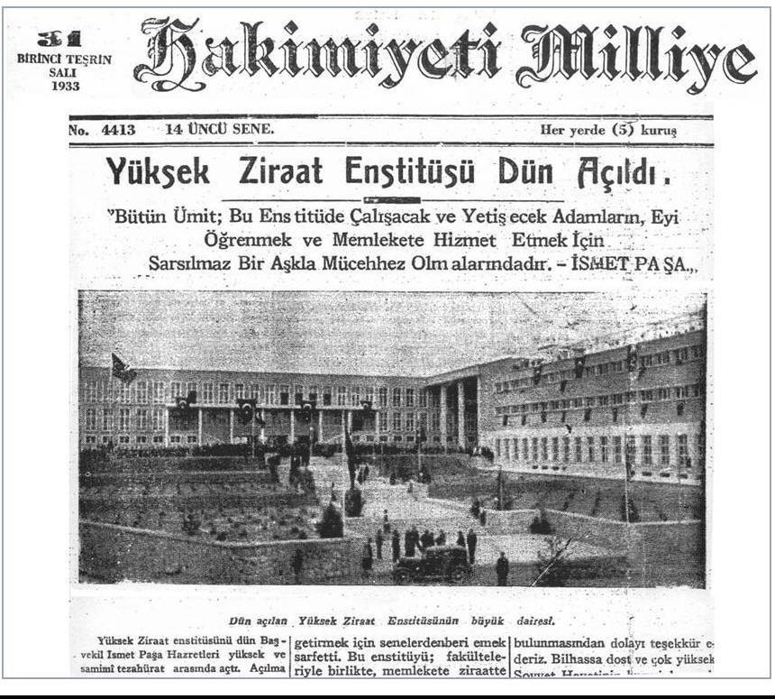 1937 yılında Zirai Kombinalar İdaresi kuruldu. ile ilgili görsel sonucu