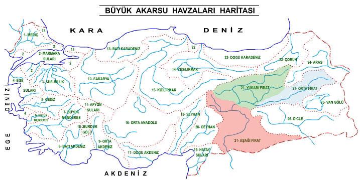 anadolu su havzaları harita ile ilgili görsel sonucu